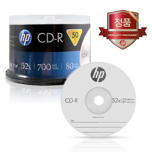HP CD-R 700MB 52x Cake (50장)