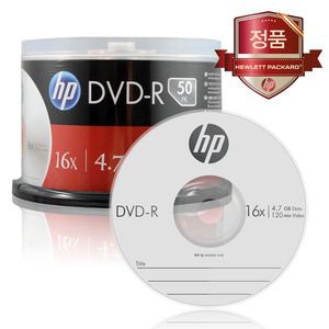 HP DVD-R 4.7GB 16x Cake (50장)