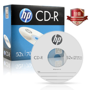 HP CD-R 700MB 52x 슬림 1장